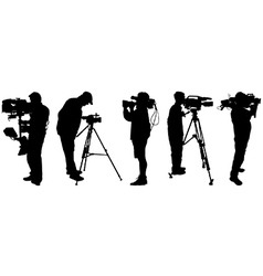 Video cameramen vector image vector image