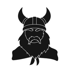 Viking icon in black style isolated on white vector image vector image