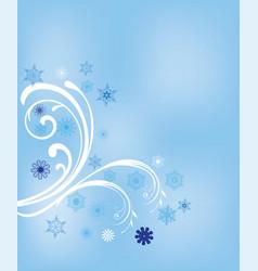 winter swirls vector image vector image