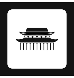 Sacred temple icon simple style vector