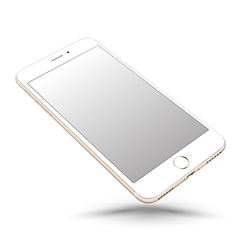 Gold smartphone mockups like iphon vector
