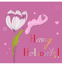 Holidays for girls vector