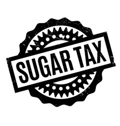 Sugar tax rubber stamp vector