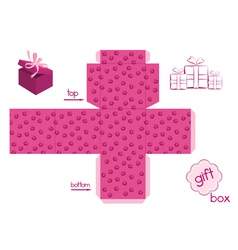 Template for elegant gift box vector