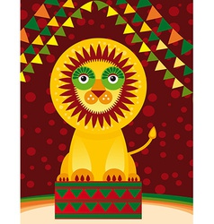 Big lion in the circus vector