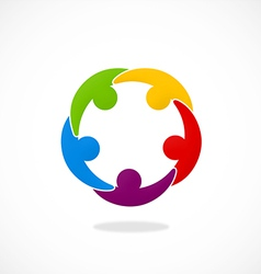 People connection teamwork logo vector