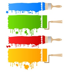paint and brush vector image