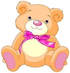 Child teddy bear vector
