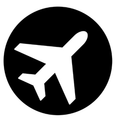Avion flat icon vector