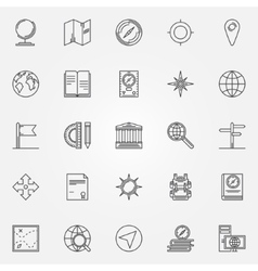 Geography icons set vector