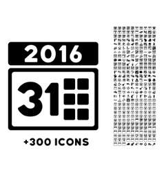 2016 month icon vector