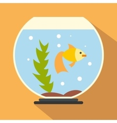 Aquarium flat icon vector