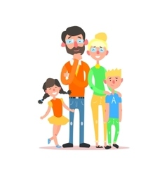Happy Family with Parents Wearing Glasses vector image