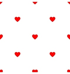 Red pattern with hearts vector