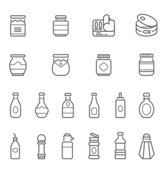 Lines icon set - ketchup vector
