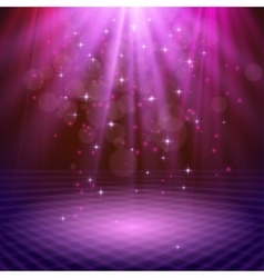 Spotlight effect scene background vector