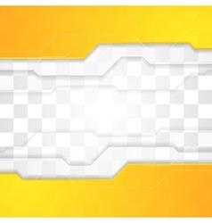 Bright orange tech corporate geometric background vector