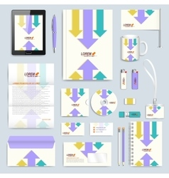 Set of corporate identity template modern vector