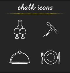 Restaurant kitchen equipment icons vector