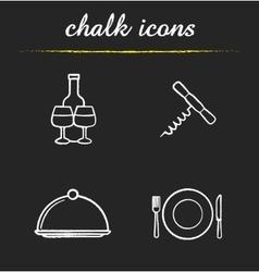 Restaurant kitchen equipment icons vector