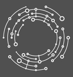 Abstract circles vector