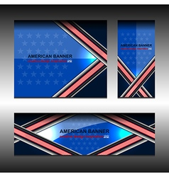 America banners design vector