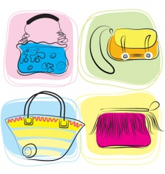 bag drawings vector image