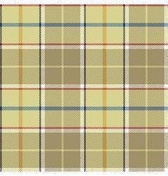 Beige tartan fabric texture seamless pattern vector
