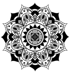 Black simple mandala vector