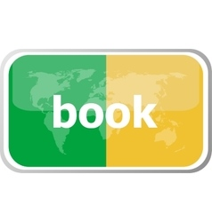 book word on web button icon isolated on vector image