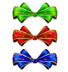 Bow in 3 color vector image vector image