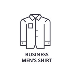 business men shirt line icon outline sign linear vector image vector image