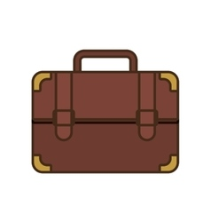 Cartoon portfolio suitcase travel business vector