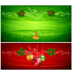 Christmas balls ornament vector image vector image