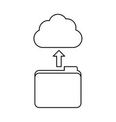 figure database storage icon image design vector image