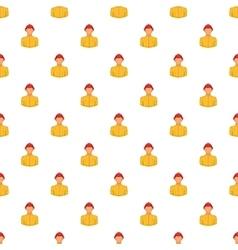 Fireman pattern cartoon style vector