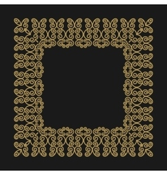 Gold frame in the trendy mono line style on a vector