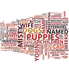 Gone to the dogs with adorable airedales text vector