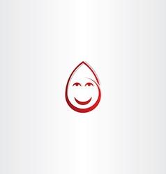 Happy drop blood funny face icon vector