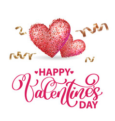 happy valentines day romantic greeting card with vector image