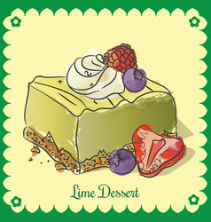 lime dessert vector image vector image