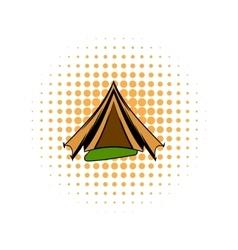 Military tent comics icon vector image