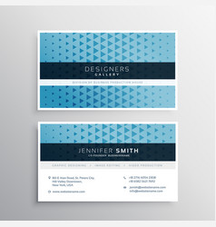 Modern blue business card template vector