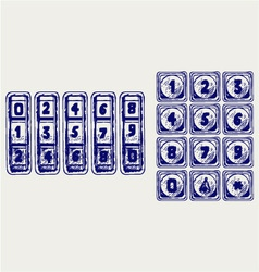 Numerical code lock vector image vector image