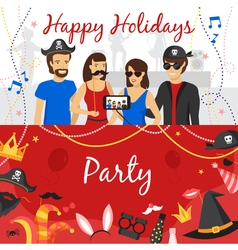Photo Booth Party Banners Set vector image vector image