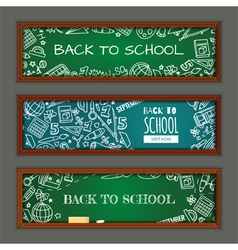 Set with banners on education theme for web site vector