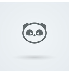 Simple minimalist icon with a muzzle of panda vector image