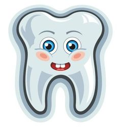 Smiling cartoon tooth vector image vector image