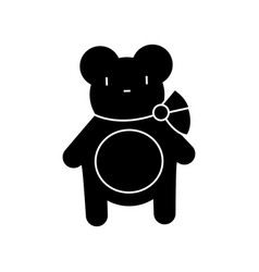 teddy bear icon sign o vector image vector image