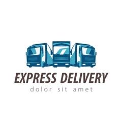 truck logo design template traffic or vector image